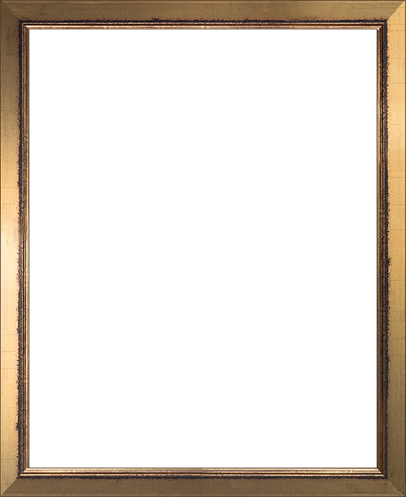 Painting frame png. Wall art burnished gold