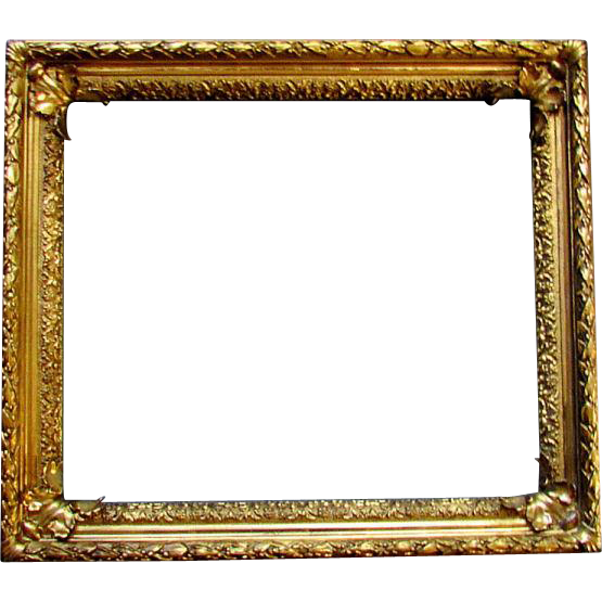 Antique th century gilt. Painting frame png