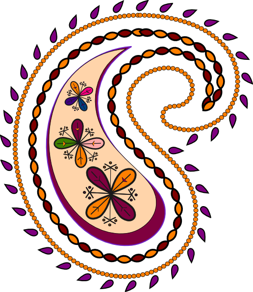 Paisley clipart. Clip art at clker