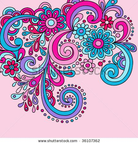 Clip art psychedelic groovy. Paisley clipart abstract swirl