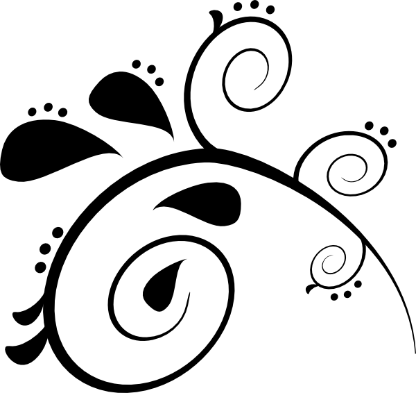 Black pattern clip art. Paisley clipart basic