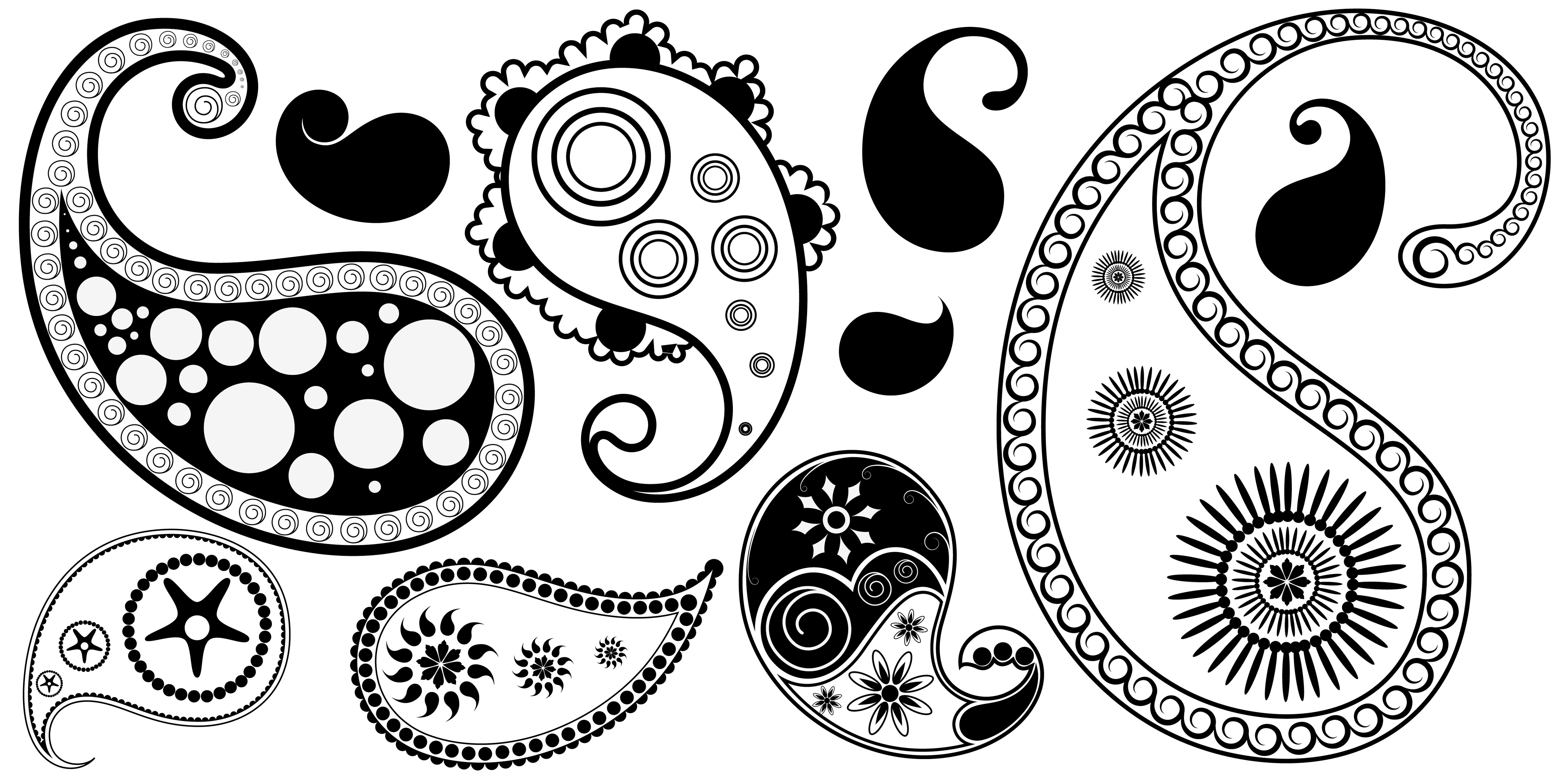 simple pattern vector. Paisley clipart basic