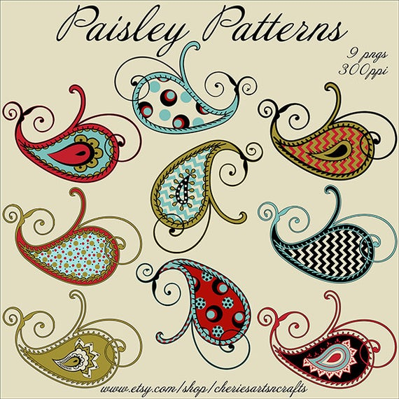 Paisley clipart basic. Patterns png files graphics