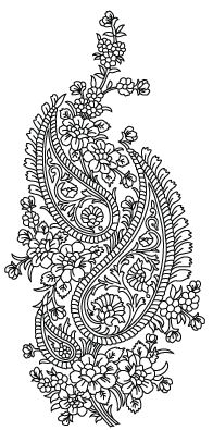 Alpona design art folk. Paisley clipart bengali