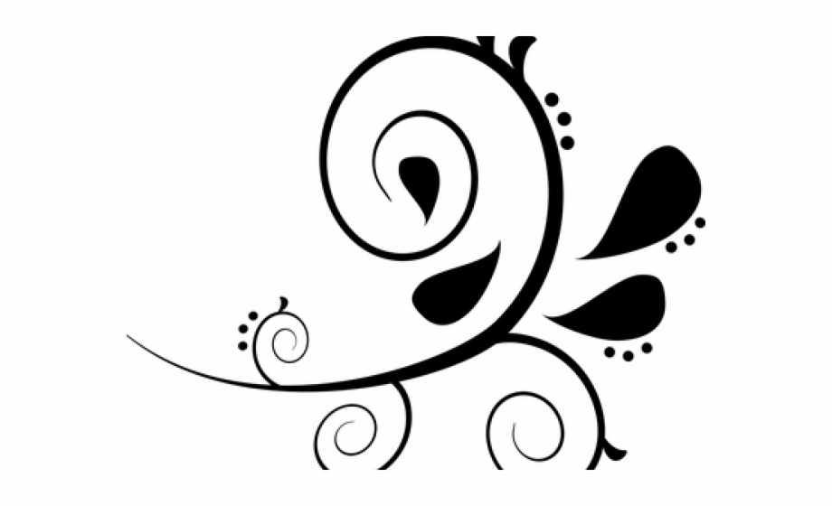 Free clip art png. Paisley clipart black and white