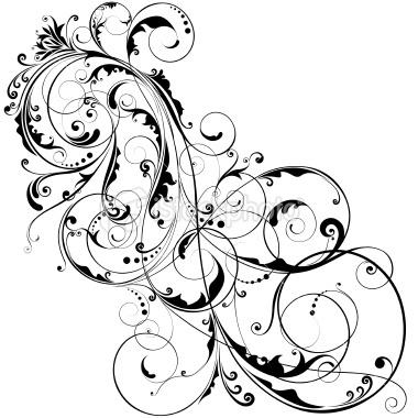 Paisley clipart black filigree. Transparent png free