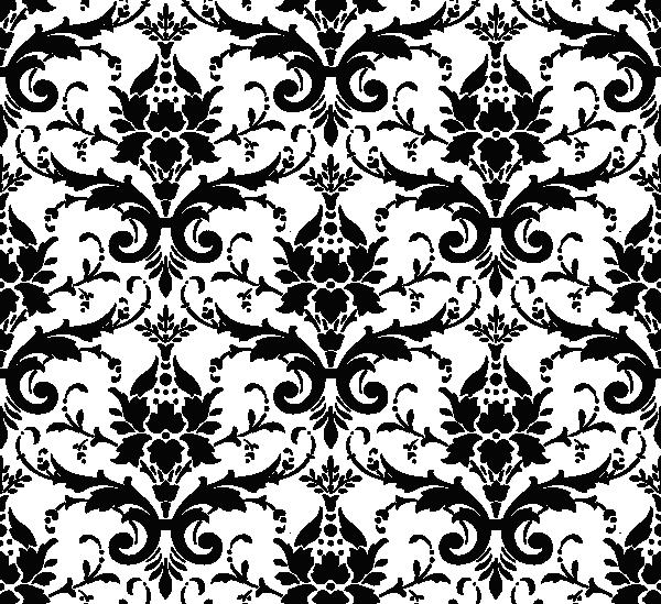 Paisley clipart damask. Black background clip art