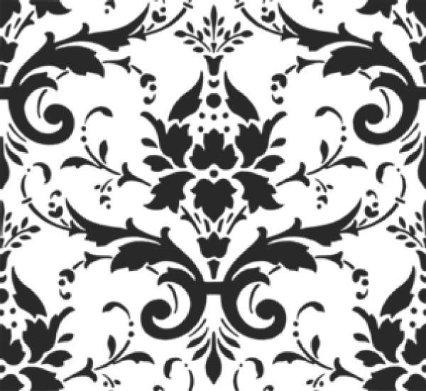 Black pattern clip art. Paisley clipart damask