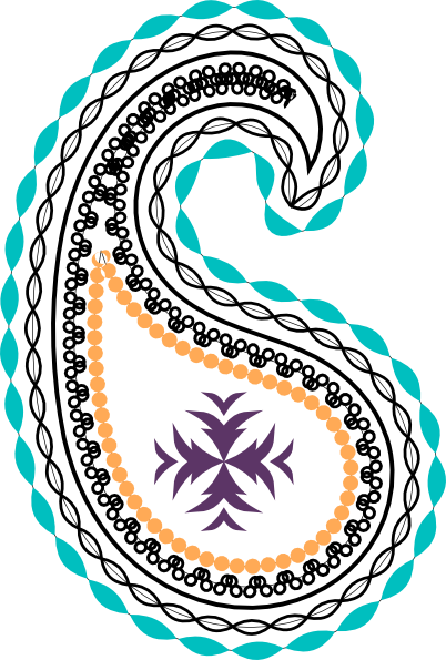 Indian clip art library. Paisley clipart design india