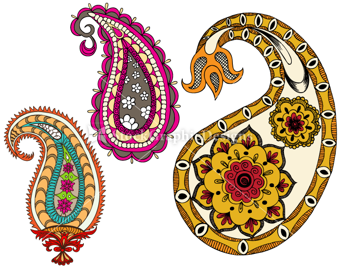 Paisley clipart design india. Indian designs clip best
