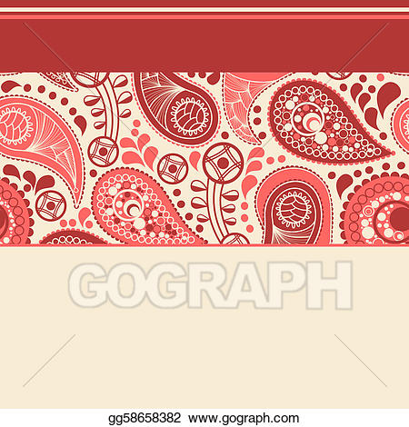 Paisley clipart elegant. Vector stock background