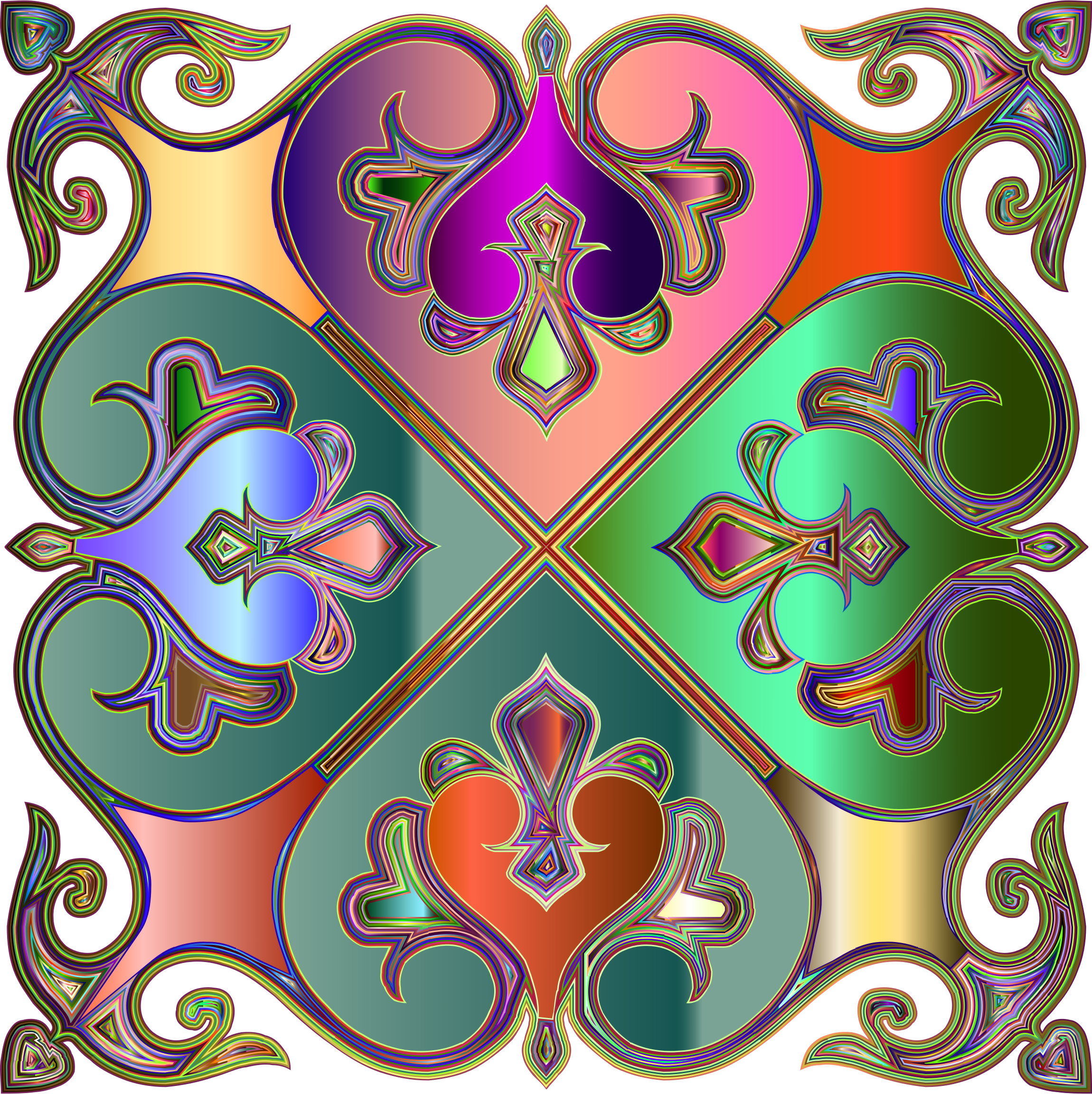 Decorative tile enhanced big. Paisley clipart elegant