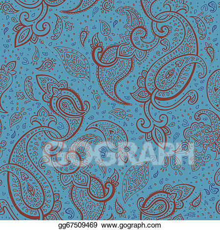 Vector art hand drawn. Paisley clipart elegant