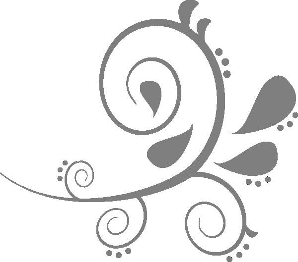 Grey swirls clip art. Paisley clipart gold paisley