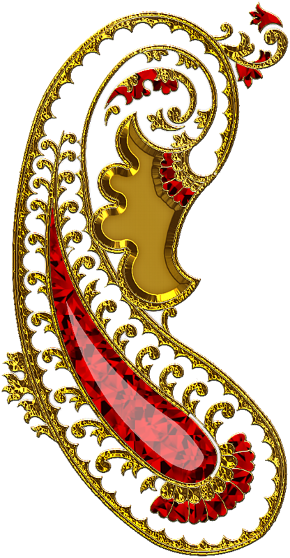 Preview clip art indian. Paisley clipart gold paisley