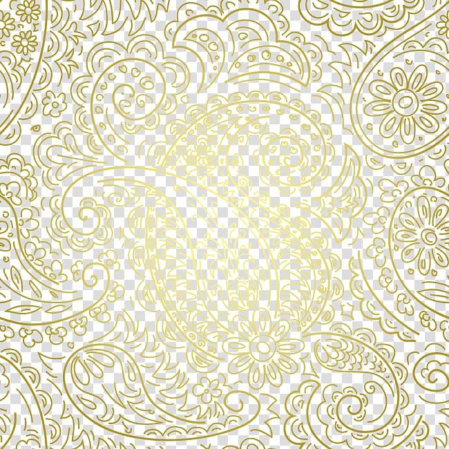 Illustration visual arts the. Paisley clipart gold paisley