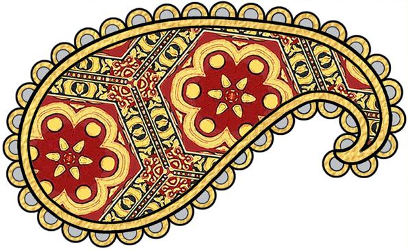 Paisley clipart gold paisley. Artbyjean paper crafts patterns