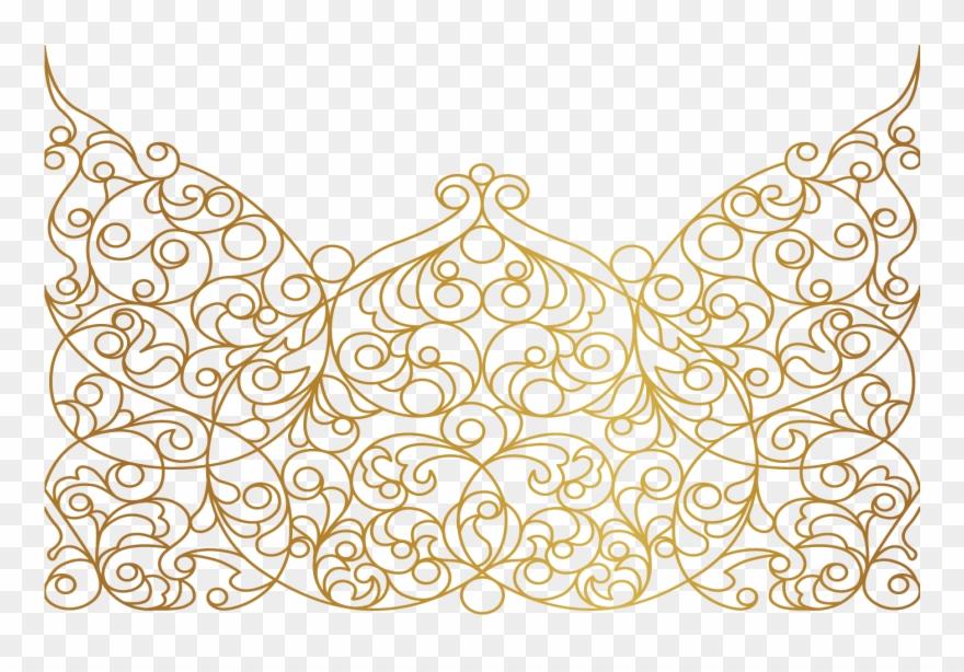 Paisley clipart gold paisley. Mandala swirls design pattern