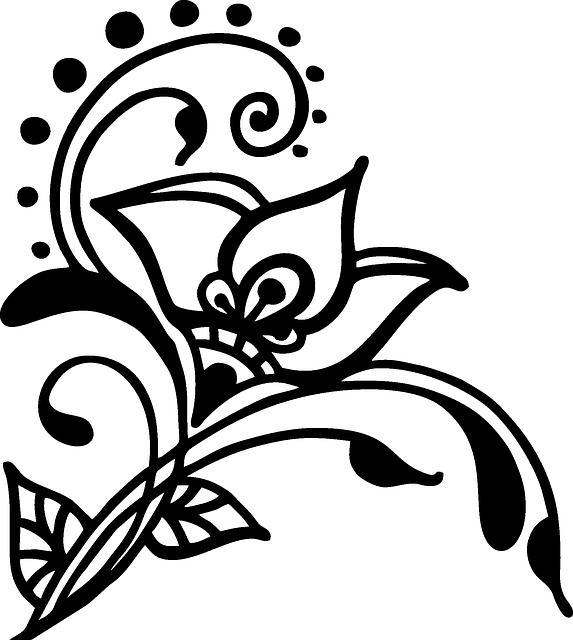 Paisley clipart henna tattoo. Free image on pixabay