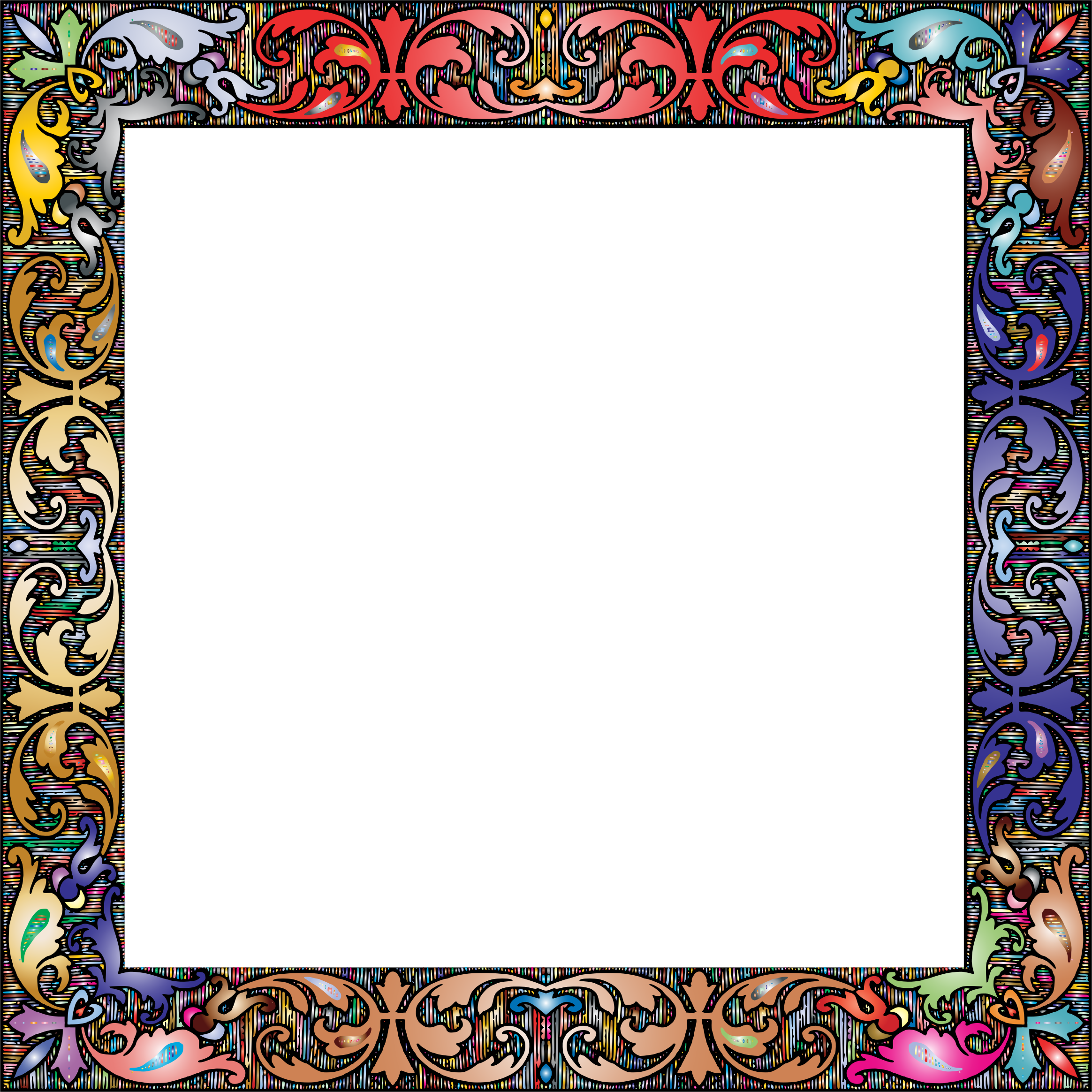Square frame png. Fancy vintage prismatic icons