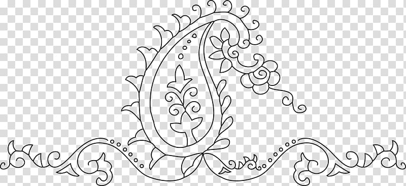 Black and white visual. Paisley clipart marriage