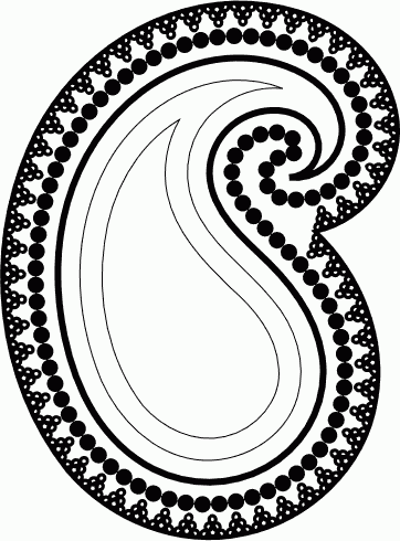 Paisley clipart motif. Inkscape tutorial vectors best