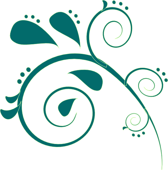 Paisley clipart outline. Teal clip art at