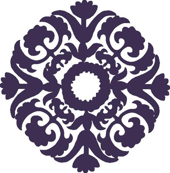 Dark purple clip art. Paisley clipart paisley flower