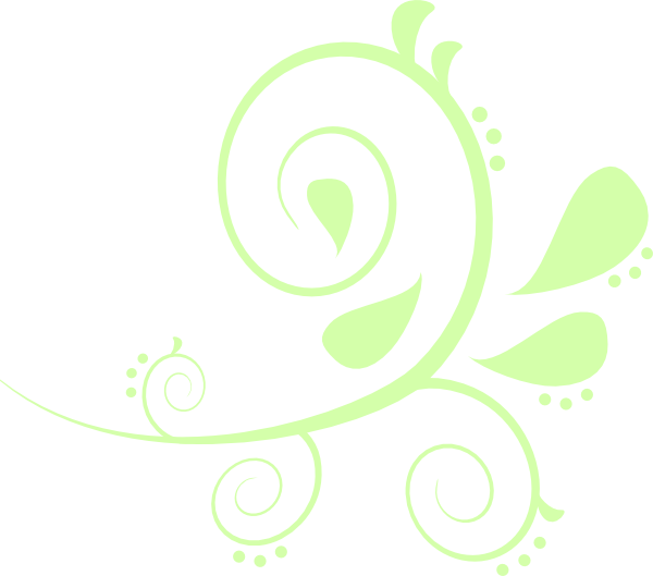 Paisley clipart paisley flower. Curves green clip art