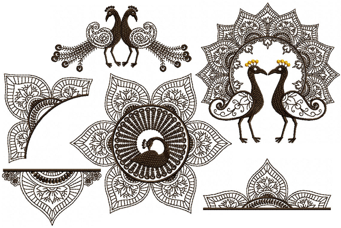 Set for x . Paisley clipart paisley peacock