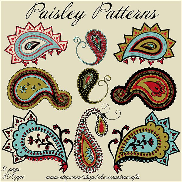 Paisley clipart paisley print. Patterns png files graphics