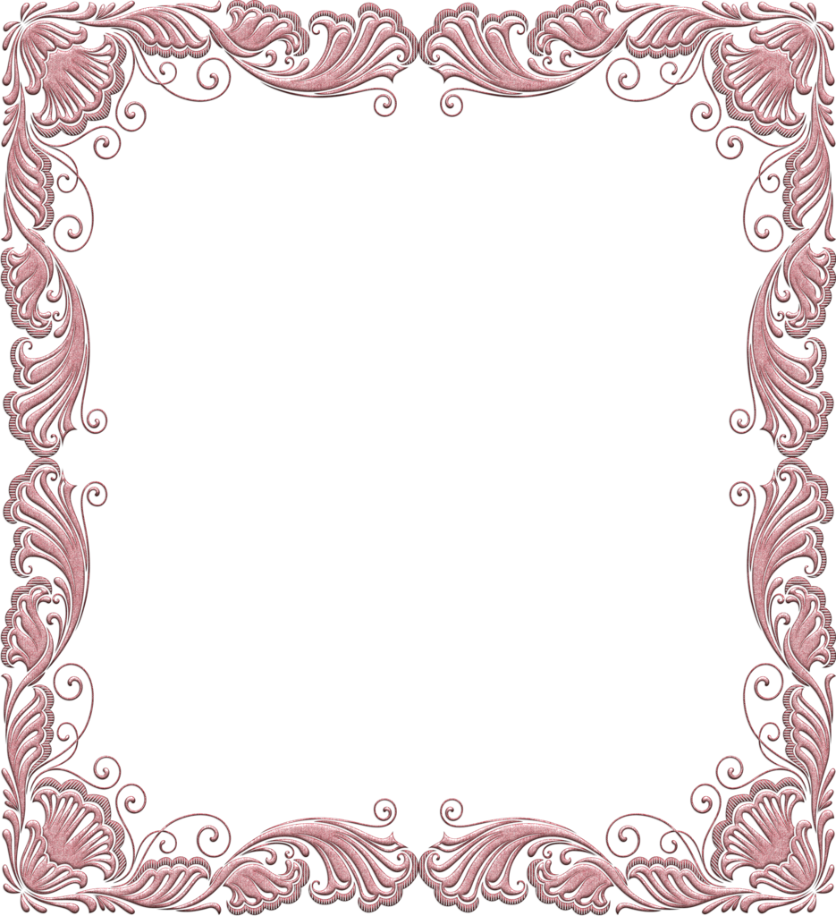 Paisley clipart pasley. Pink soft transparent frame