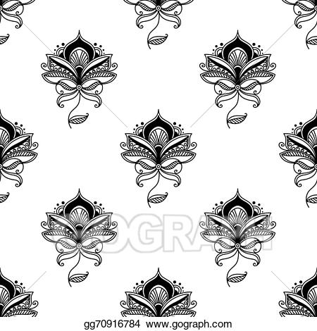 Paisley clipart persian. Vector seamless pattern