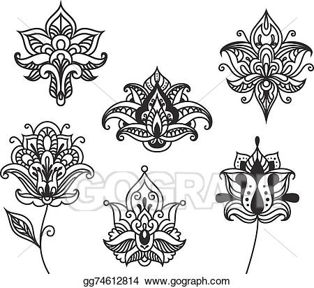 Clip art vector decorative. Paisley clipart persian