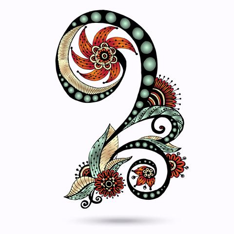 Paisley clipart pretty design. Beautiful tattoos clip art