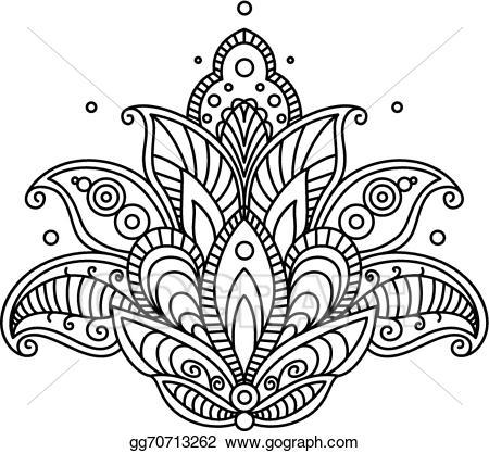 Paisley clipart pretty design. Vector stock ornate flower