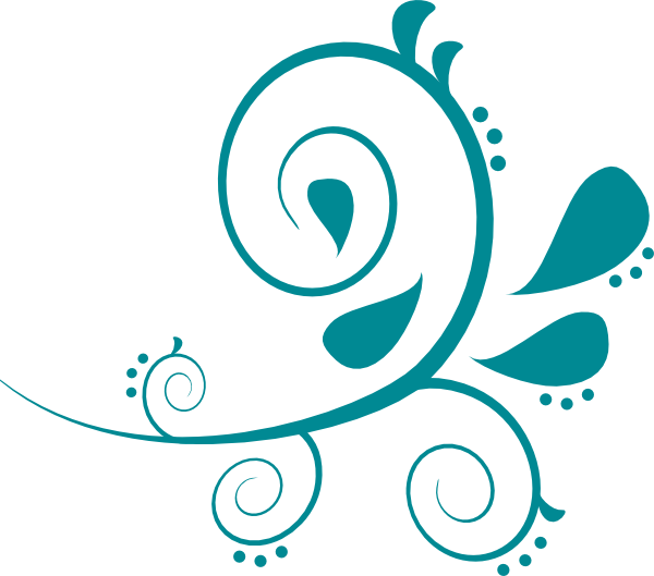 Curves clip art at. Paisley clipart teal