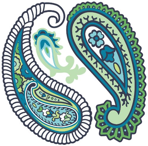 Paisley clipart teal. Free cliparts download clip