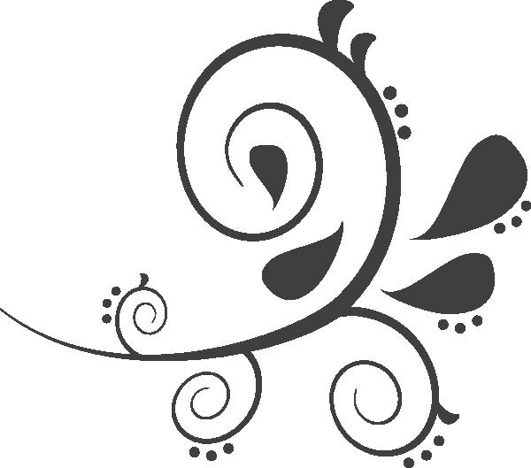 Dark grey clip art. Paisley clipart