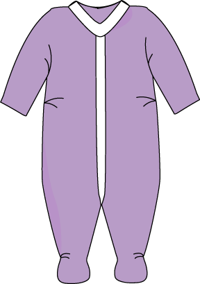 Pajamas clipart night dress. Purple pajama