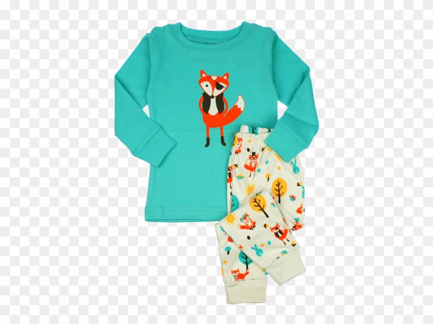 Pajama fox pyjamas png. Pajamas clipart babygrow