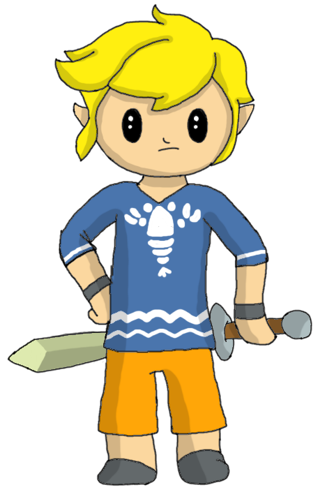 Toon link in by. Pajamas clipart drawing
