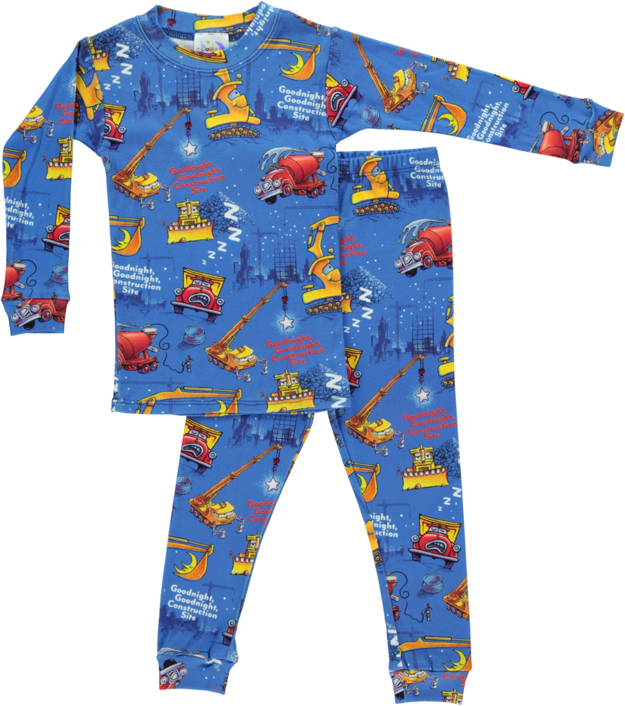 Pajamas clipart cotton clothing. Goodnight construction site books