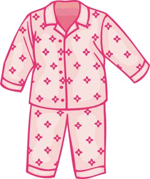 Pajamas clipart vector. Free cute pajama cliparts