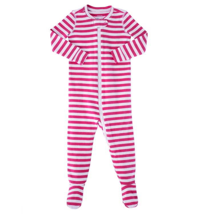 The baby stripe zip. Pajamas clipart footed