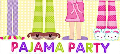 Pajama party look at. Pajamas clipart border