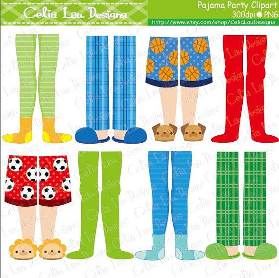 Pajama clipart pajama top. Party boys feet by