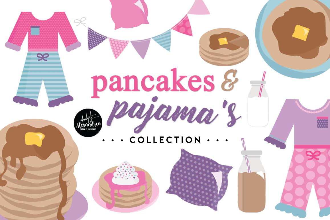 Pajamas clipart pancake. Pancakes graphics digital paper