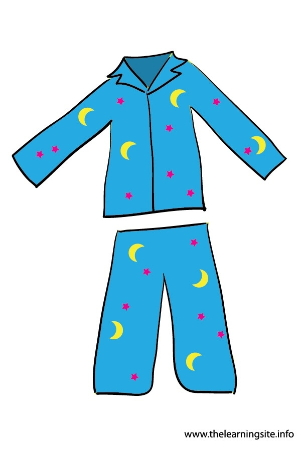 Pajamas clipart. Boy putting on letters