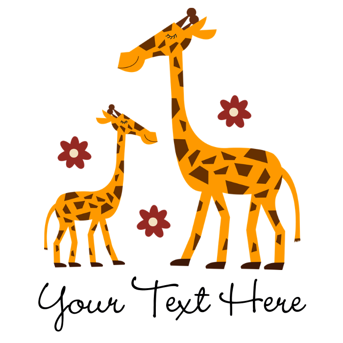 Custom mother daughter giraffe. Pajamas clipart baby romper